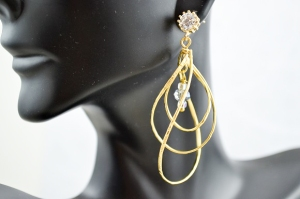 Gold Multi-Twist Earrings
